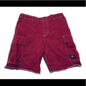 Nike SB Men's Hawthorne Red Camo Cargo Shorts